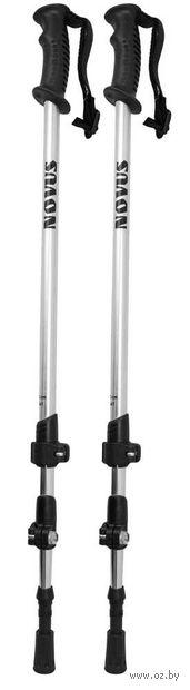 Палки треккинговые телескопические (р. 65-135 см; арт. NTP-01 silver) — фото, картинка
