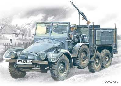"Германский легкий грузовой автомобиль ""Krupp L2H143 Kfz70"" (масштаб: 1/72) — фото, картинка"