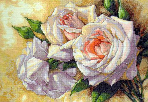"Вышивка крестом ""Белые розы"" (арт. DMS-35247)"
