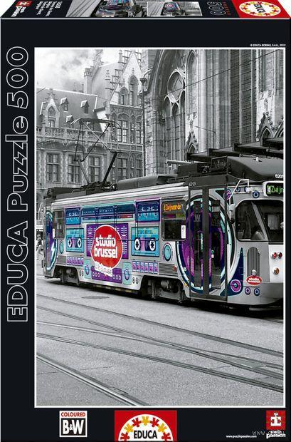 """Пазл """"Трамвай в Генте. Бельгия"""" (500 элементов) — фото, картинка"""