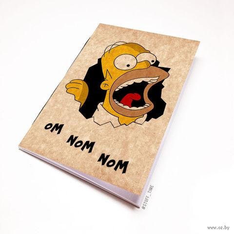 """Блокнот крафт """"Гомер Симпсон"""" (А7; арт. 497) — фото, картинка"""