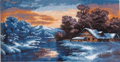 """Вышивка крестом """"Зимний закат"""""""