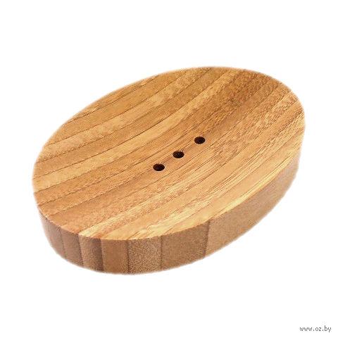 Мыльница деревянная (14х10х2 см; арт. 5164-4002)