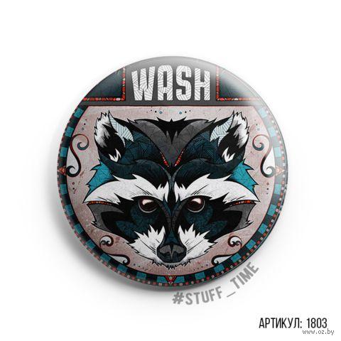 """Значок """"Wash"""" (арт. 1803) — фото, картинка"""