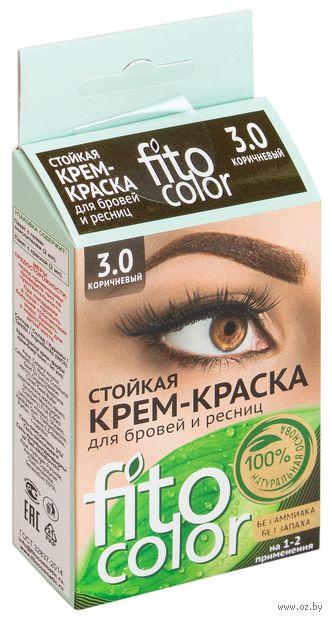 """Крем-краска для бровей и ресниц """"Fito color"""" (тон: 3.0, коричневый) — фото, картинка"""