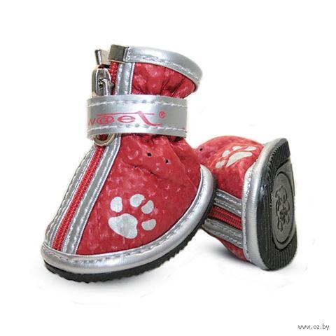 """Ботинки с """"лапками"""" (5х4х5 см; красные) — фото, картинка"""