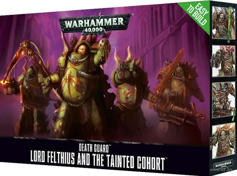 Warhammer 40.000. Death Guard. Lord Felthius & Tainted Cohort. Easy to Build (43-57) — фото, картинка