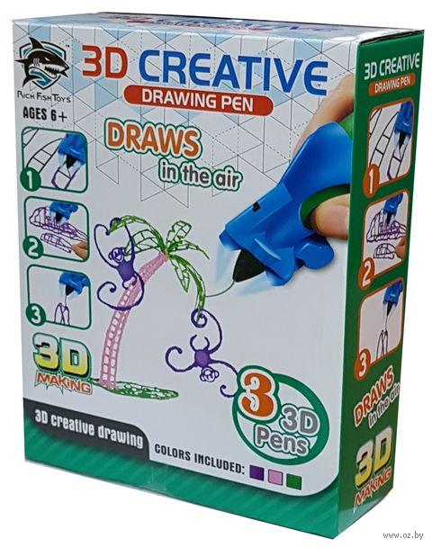 """3D ручка детская """"Rich Fish Toys"""" (фиолетовая+зелёная+розовая) — фото, картинка"""