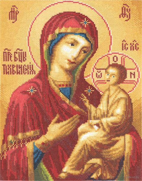 """Вышивка крестом """"Тихвинская икона Божией Матери"""" (240х310 мм) — фото, картинка"""
