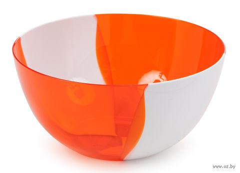 """Салатник двухцветный """"Dolce"""" (1 л; апельсин) — фото, картинка"""
