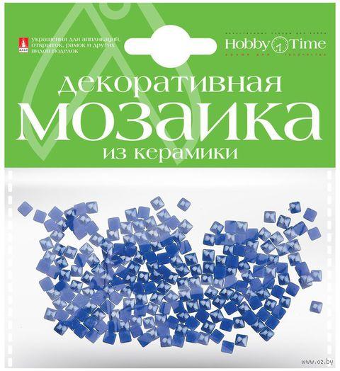 Мозаика декоративная из керамики №13 (4х4 мм; 200 шт.; синий) — фото, картинка