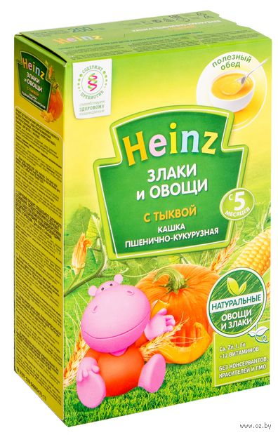 """Детская каша Heinz Baby """"Пшенично-кукурузная с тыквой"""" (200 г) — фото, картинка"""