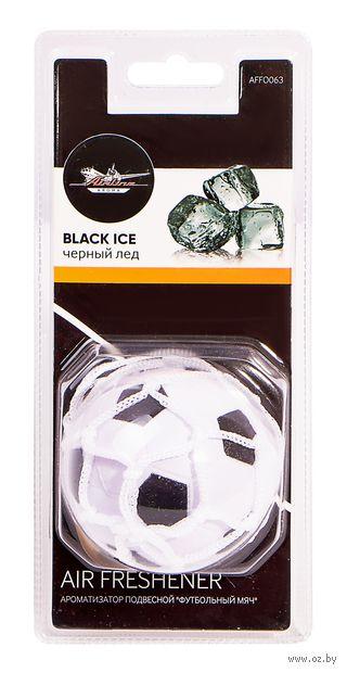 """Ароматизатор подвесной """"Футбольный мяч"""" (чёрный лёд; арт. AFFO063) — фото, картинка"""