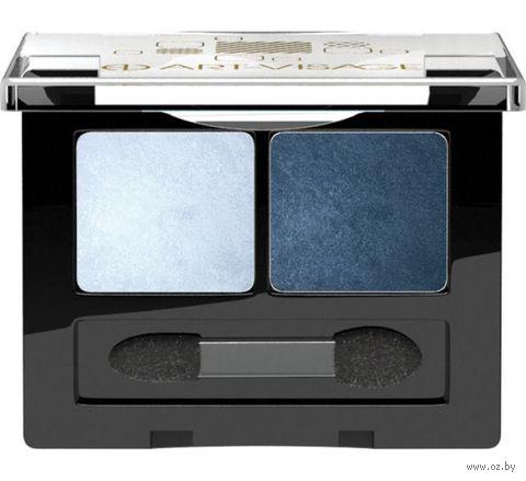 """Тени для век """"Double Story"""" тон: 203, темно-синий и голубой перламутр — фото, картинка"""
