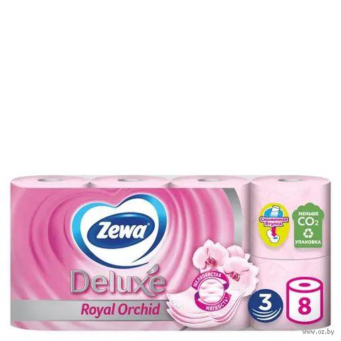 """Туалетная бумага """"Zewa Deluxe. Орхидея"""" (8 рулонов)"""