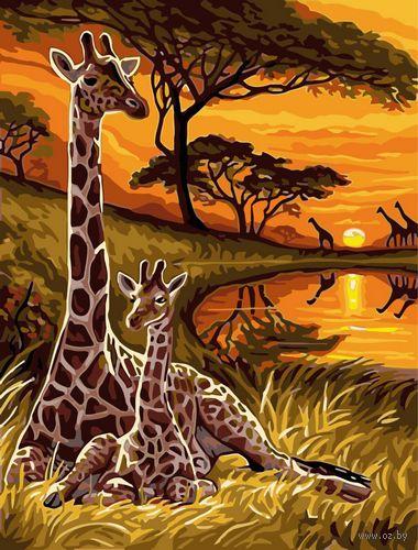 """Картина по номерам """"Жирафы"""" (300х400 мм)"""