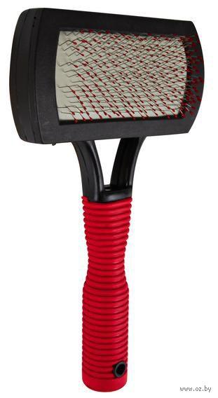 Мягкая щетка-пуходерка для ухода за шерстью (10х17 см; арт. 2301) — фото, картинка