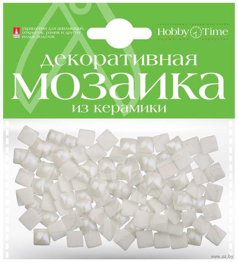 Мозаика декоративная из керамики №16 (8х8 мм; 100 шт.; белый) — фото, картинка