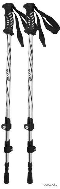 Телескопические треккинговые палки (р. 65-135 см; арт. NTP-02 silver) — фото, картинка