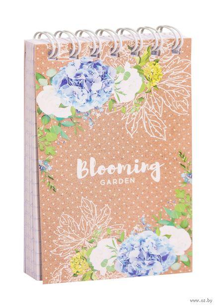 """Блокнот в клетку """"Цветы. Craft Flowers"""" (А7) — фото, картинка"""
