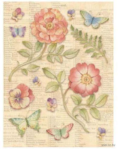 """Стикеры для скрапбукинга """"Цветы и бабочки"""""""