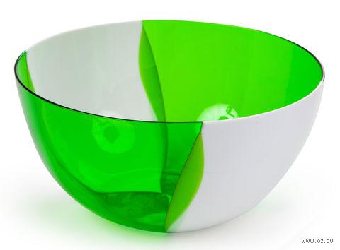 """Салатник двухцветный """"Dolce"""" (1 л; яблоко) — фото, картинка"""