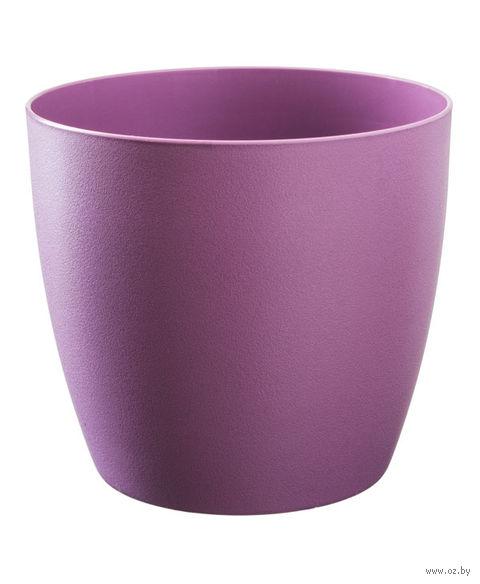"""Цветочный горшок """"Ага"""" (18 см; фиолетовый матовый) — фото, картинка"""