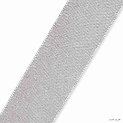 Лента атласная 06 (25 мм; 25 м; серебро) — фото, картинка