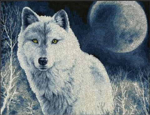 """Вышивка крестом """"Белый волк"""""""