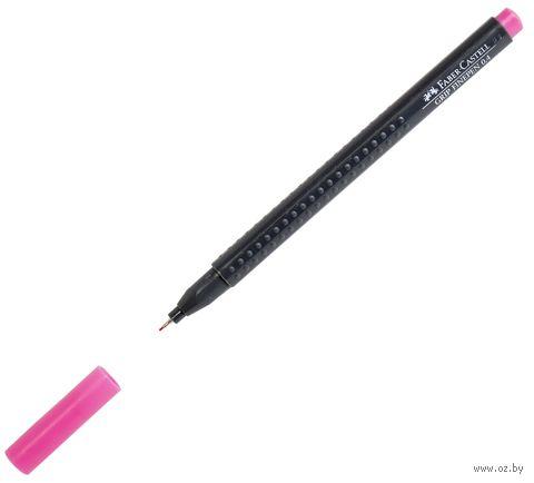 """Ручка-линер капиллярная """"Grip Finepen"""" (0,4 мм; розовая)"""