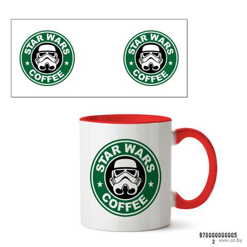 """Кружка """"Звездные войны. Star wars coffee"""" (красная) — фото, картинка"""