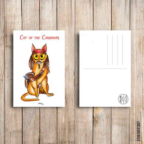 """Открытка """"Cat of the Caribbean"""" (арт. 267) — фото, картинка"""