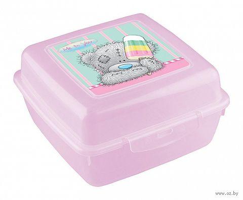 Контейнер для еды (140x140x75 мм; розовый) — фото, картинка
