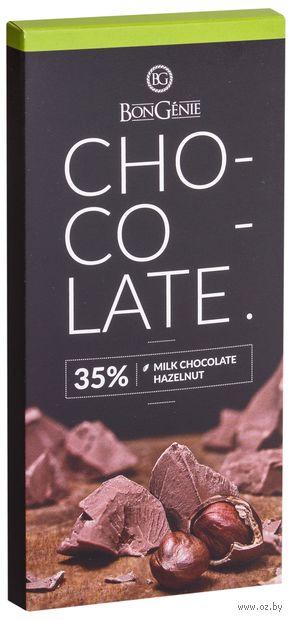 "Шоколад молочный ""BonGenie. С фундуком"" (95 г) — фото, картинка"