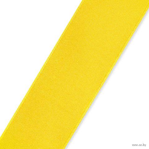 Лента атласная 31 (25 мм; 25 м; лимонный) — фото, картинка