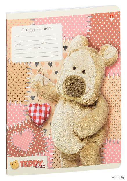"Тетрадь в линейку ""Мишка Тедди"" (24 листа; в ассортименте) — фото, картинка"