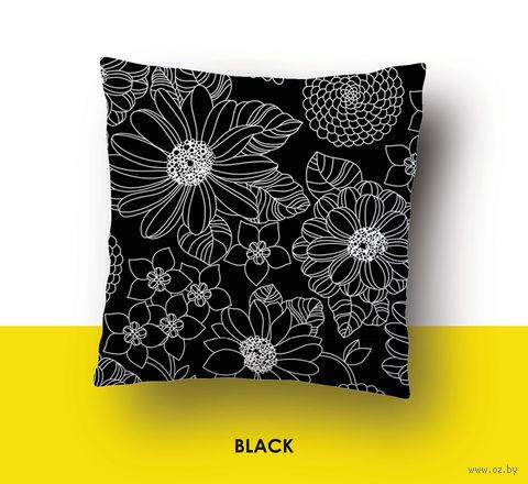 "Наволочка хлопковая ""Black"" (50x70 см) — фото, картинка"