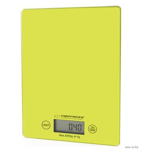 Кухонные весы Esperanza Lemon EKS002G (зеленые) — фото, картинка