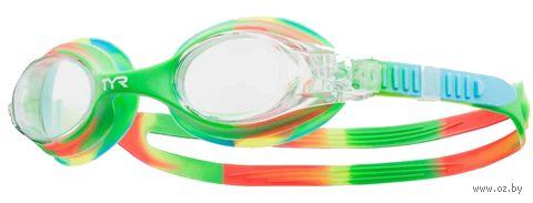 "Очки для плавания ""Kids Swimple Tie Dye"" (зелёные) — фото, картинка"