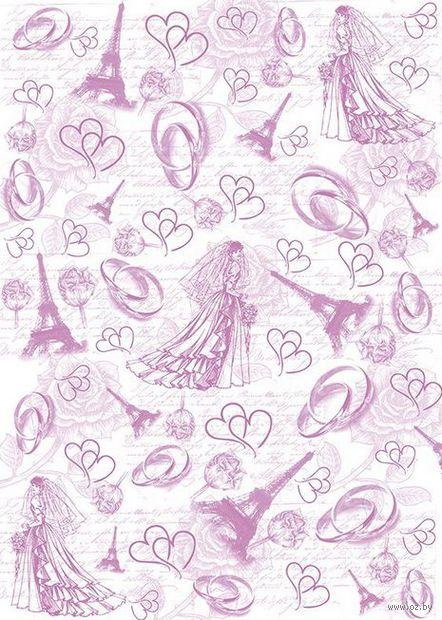 "Пленка-оверлей ""Невеста. Кольца. Эйфелева башня"" (210х300 мм)"