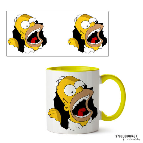 """Кружка """"Симпсоны"""" (желтая; арт. 497) — фото, картинка"""