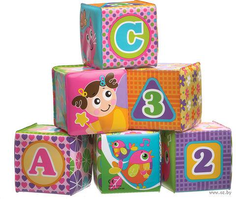 """Набор игрушек для купания """"Розовые кубики"""" (6 шт)"""