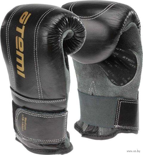 Перчатки снарядные LTB19201 (М; кожа; чёрно-серые) — фото, картинка