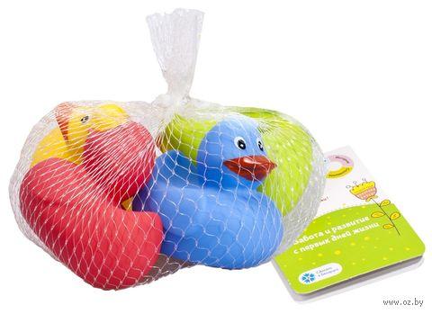 """Набор игрушек для купания """"Весёлые утята"""" (4 шт.) — фото, картинка"""