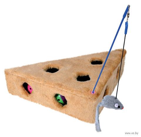 """Игрушка для кошек """"Сыр с мышью и 3 мячиками"""" (36х26х8 см; арт. 4505)"""