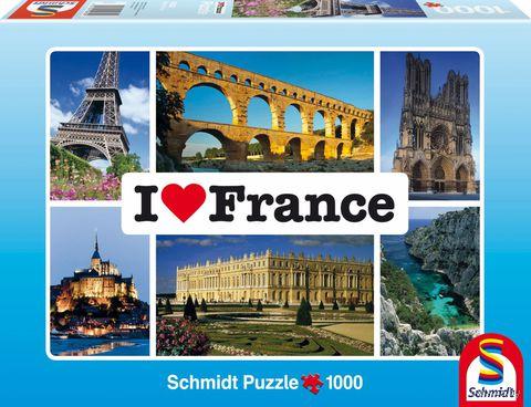 """Пазл """"Я люблю Францию"""" (1000 элементов)"""