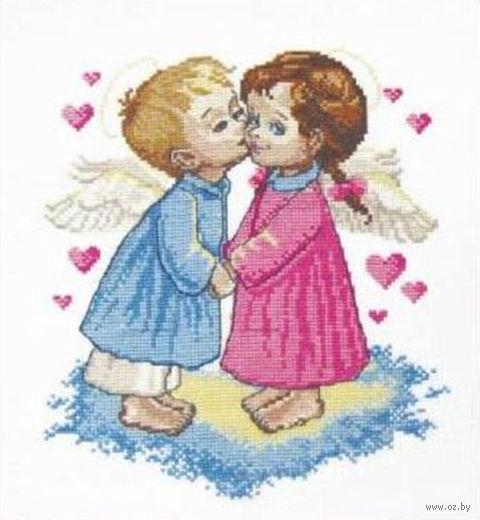 """Вышивка крестом """"Два ангела"""""""