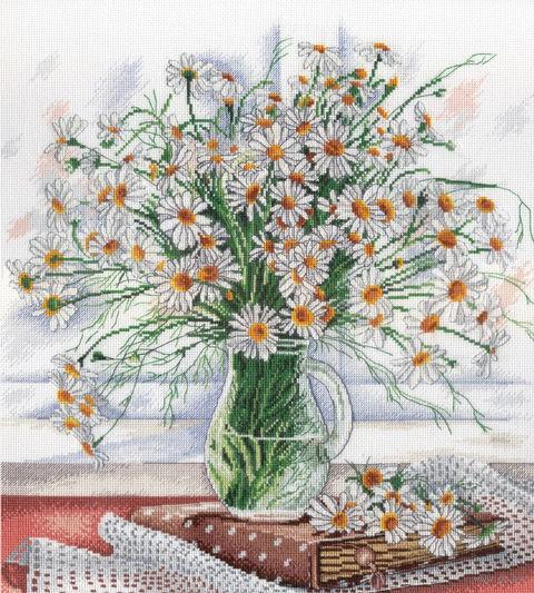 """Вышивка крестом """"Нежность полевых цветов"""" (310х300 мм) — фото, картинка"""