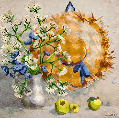 """Алмазная вышивка-мозаика """"Соломенная шляпа"""" (300х300 мм) — фото, картинка"""