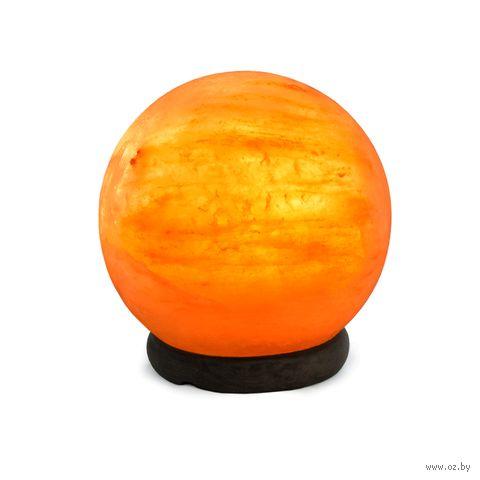 "Лампа соляная ""Stay Gold. Сфера"" (3-4 кг; с диммером) — фото, картинка"